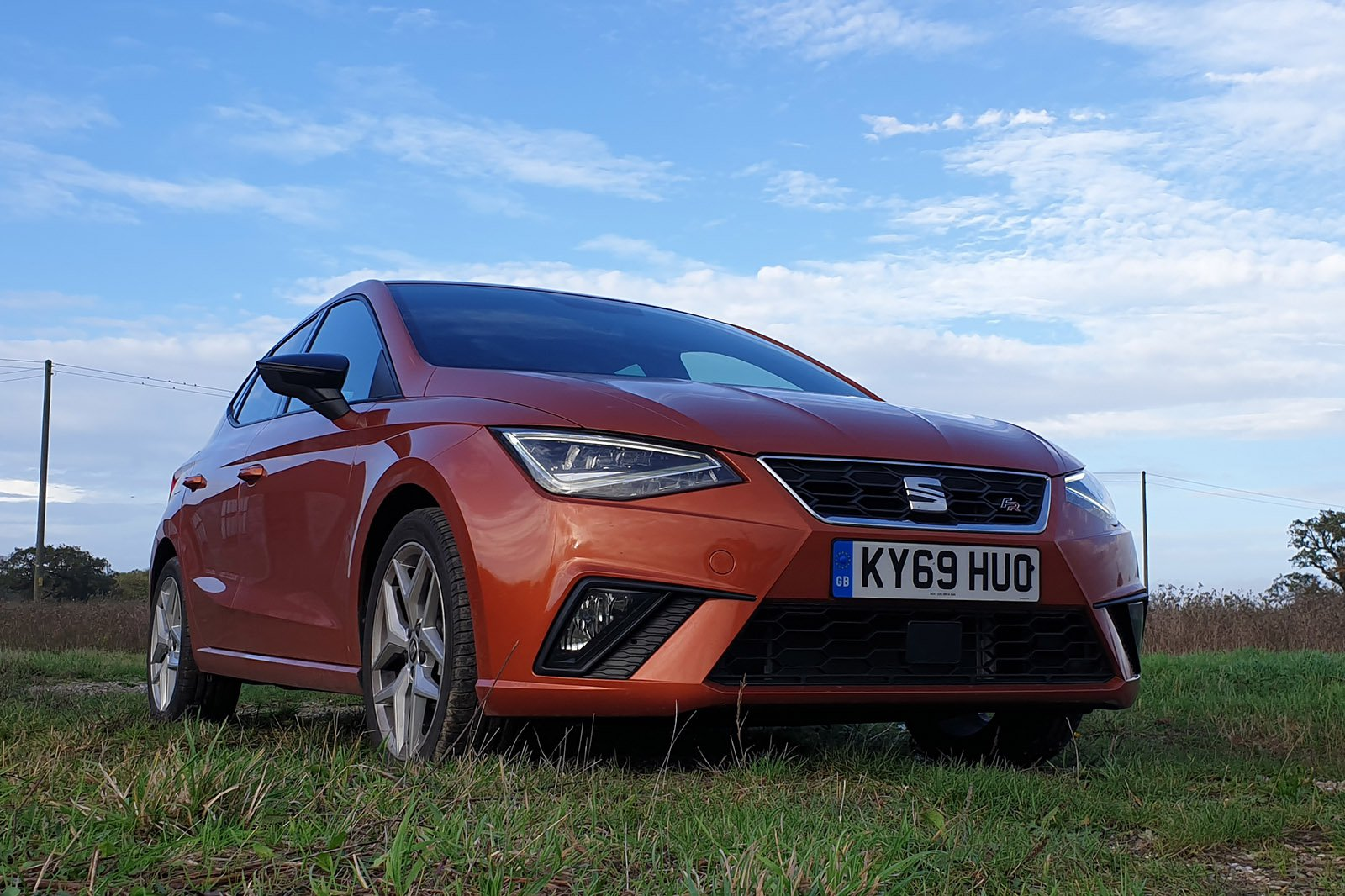 Seat Ibiza Long Term 2021 front low angle