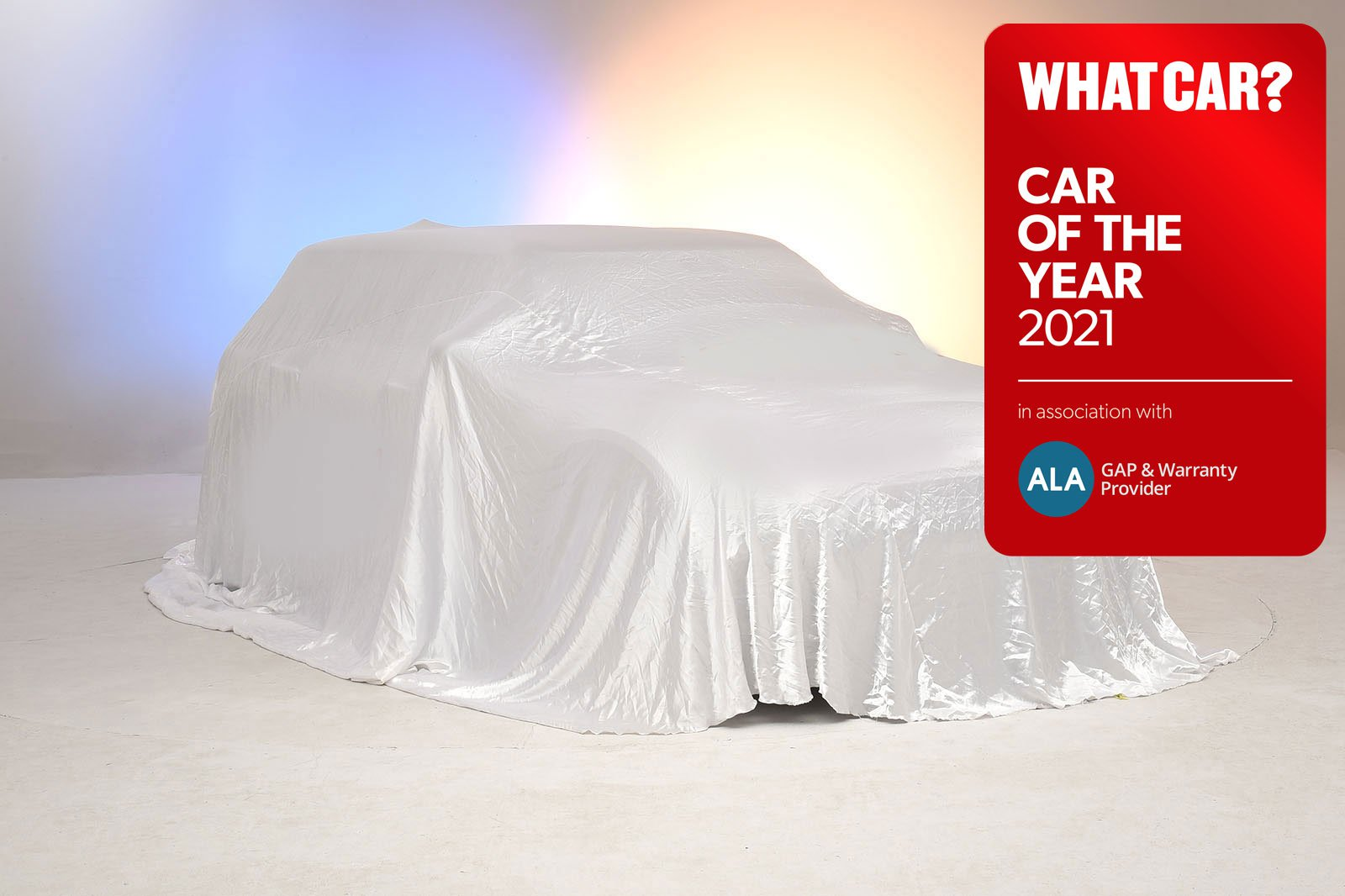 What Car? Car of the Year Awards 2021 car with logo