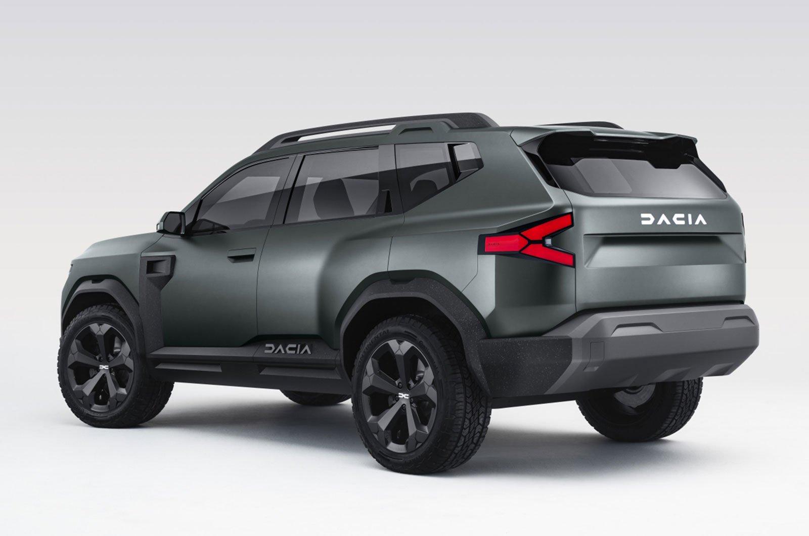 Dacia Bigster concept rear