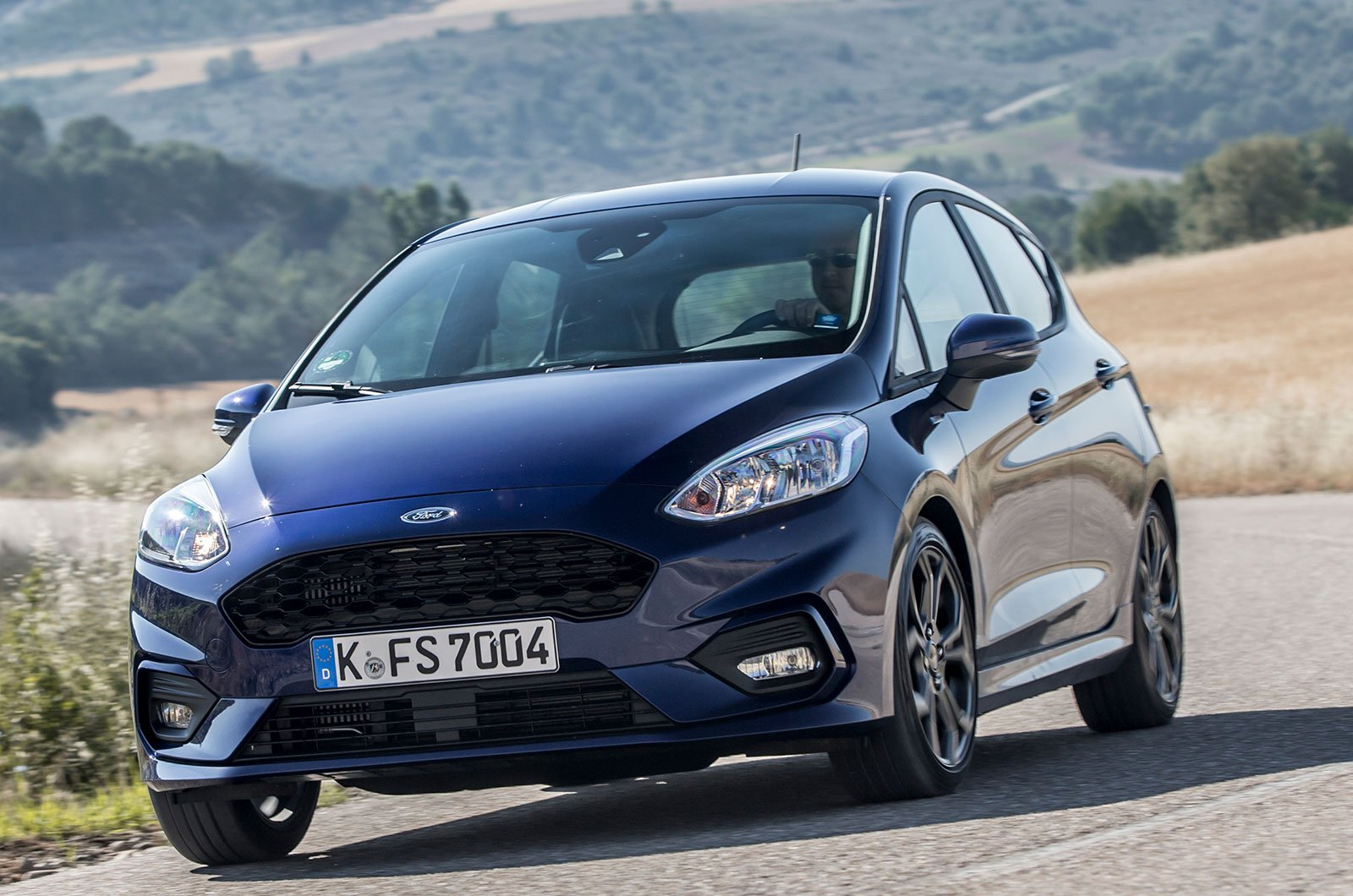 Ford Fiesta with metallic paint