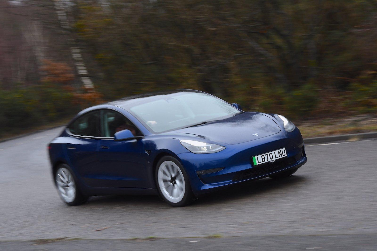 2021 Tesla Model 3 LR front cornering