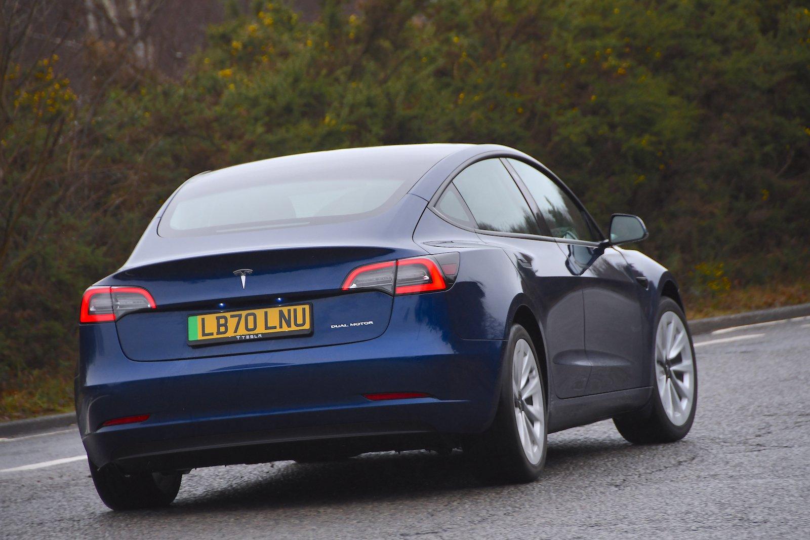 2021 Tesla Model 3 LR rear