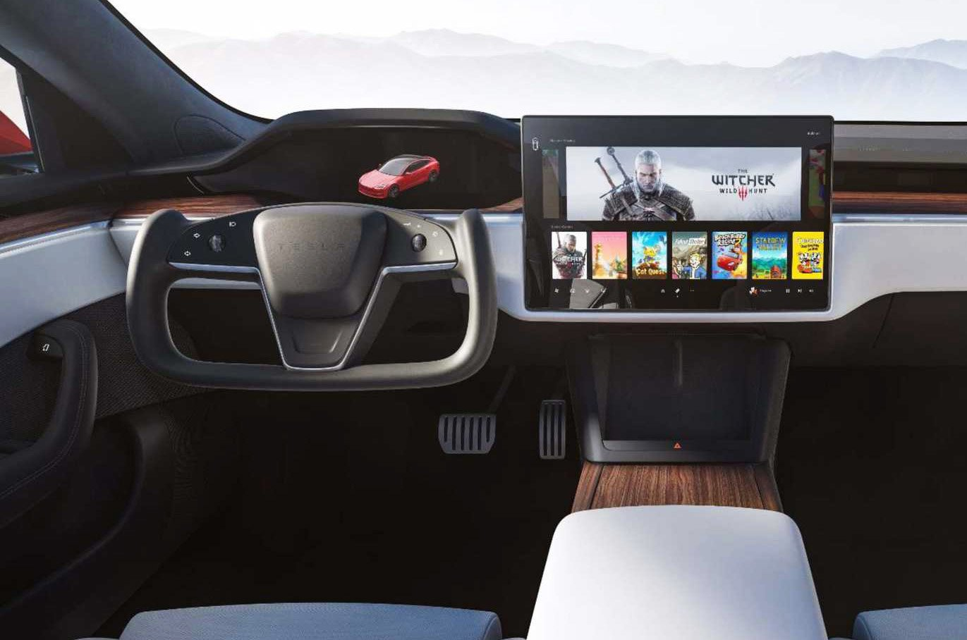 Tesla Model S 2022 dashboard