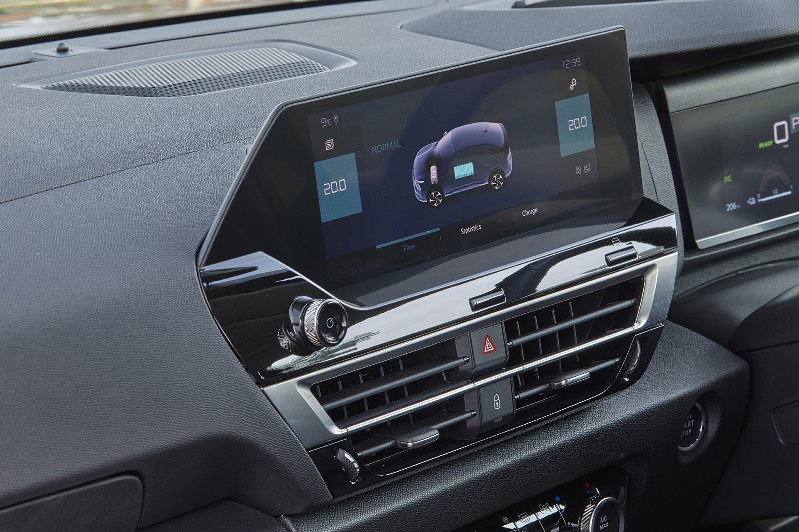 Citroën e-C4 2021 infotainment