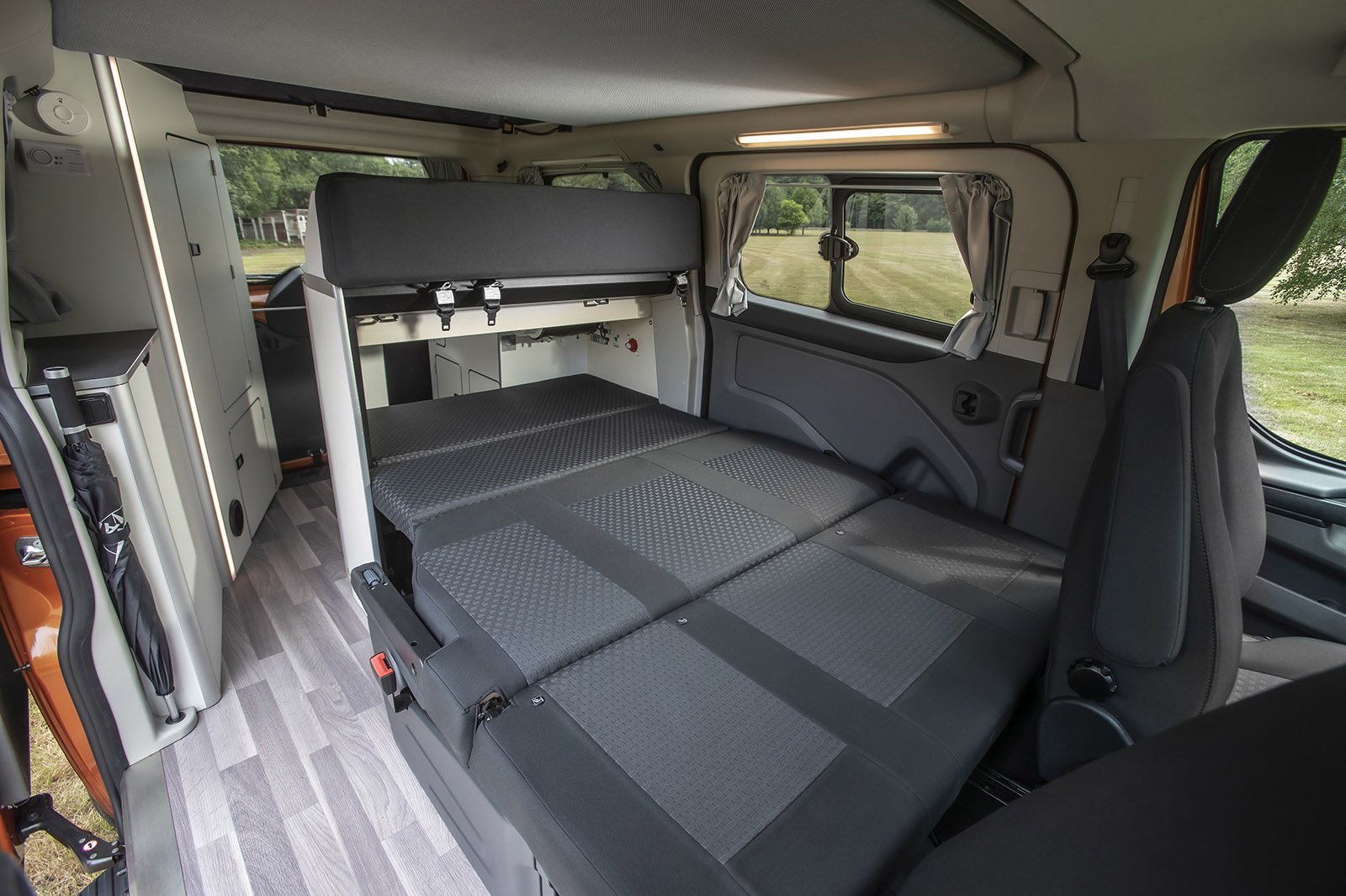 Ford Transit Nugget 2021 bench folded to bed