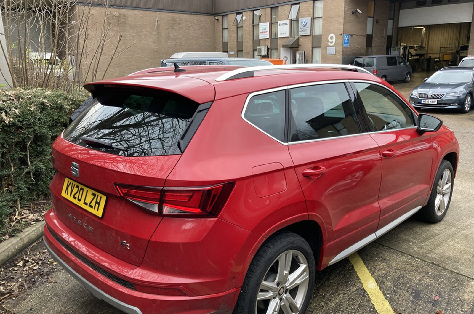 Seat Ateca outside Camberley Seat