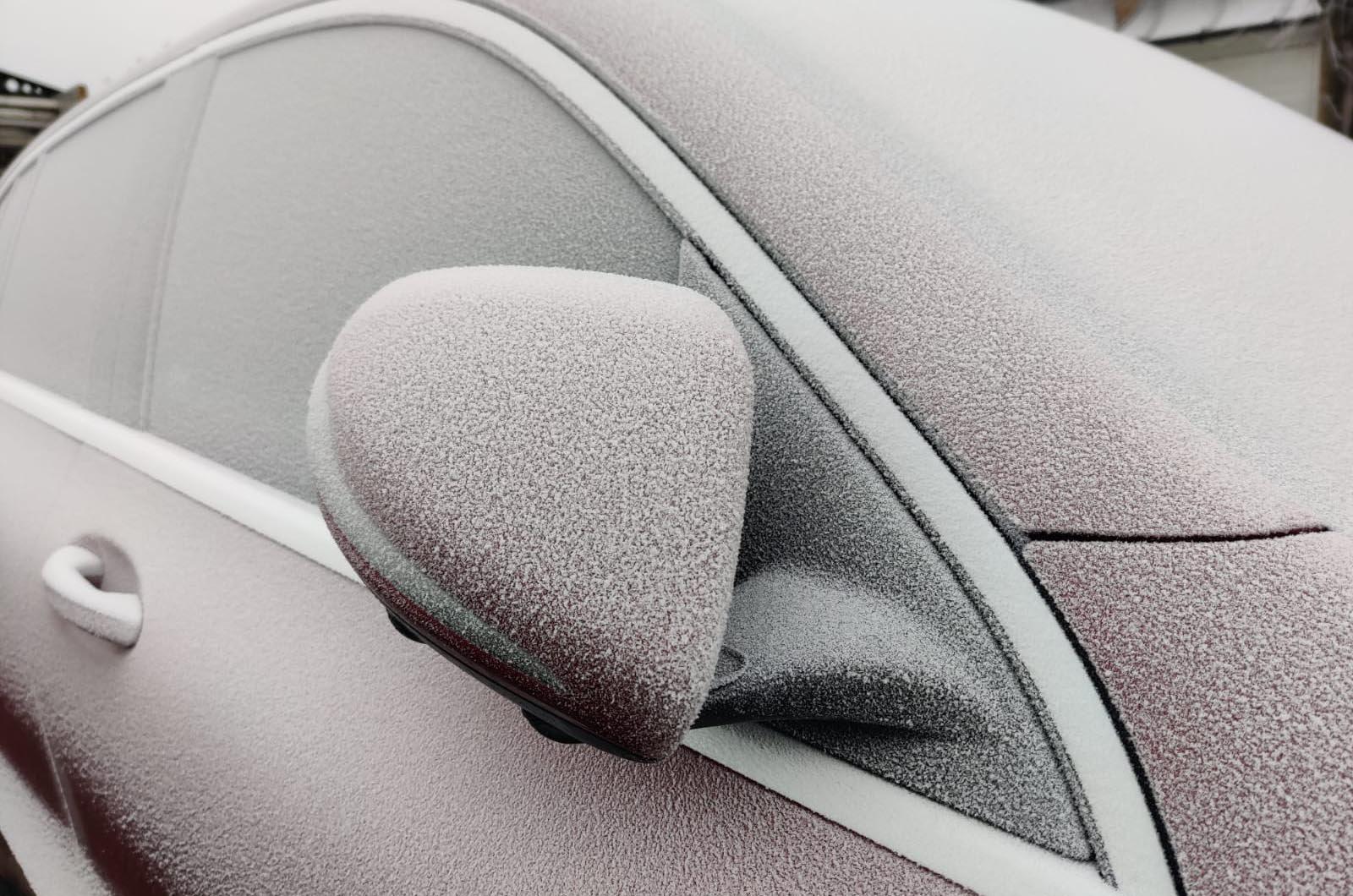 Mercedes EQC ice close up