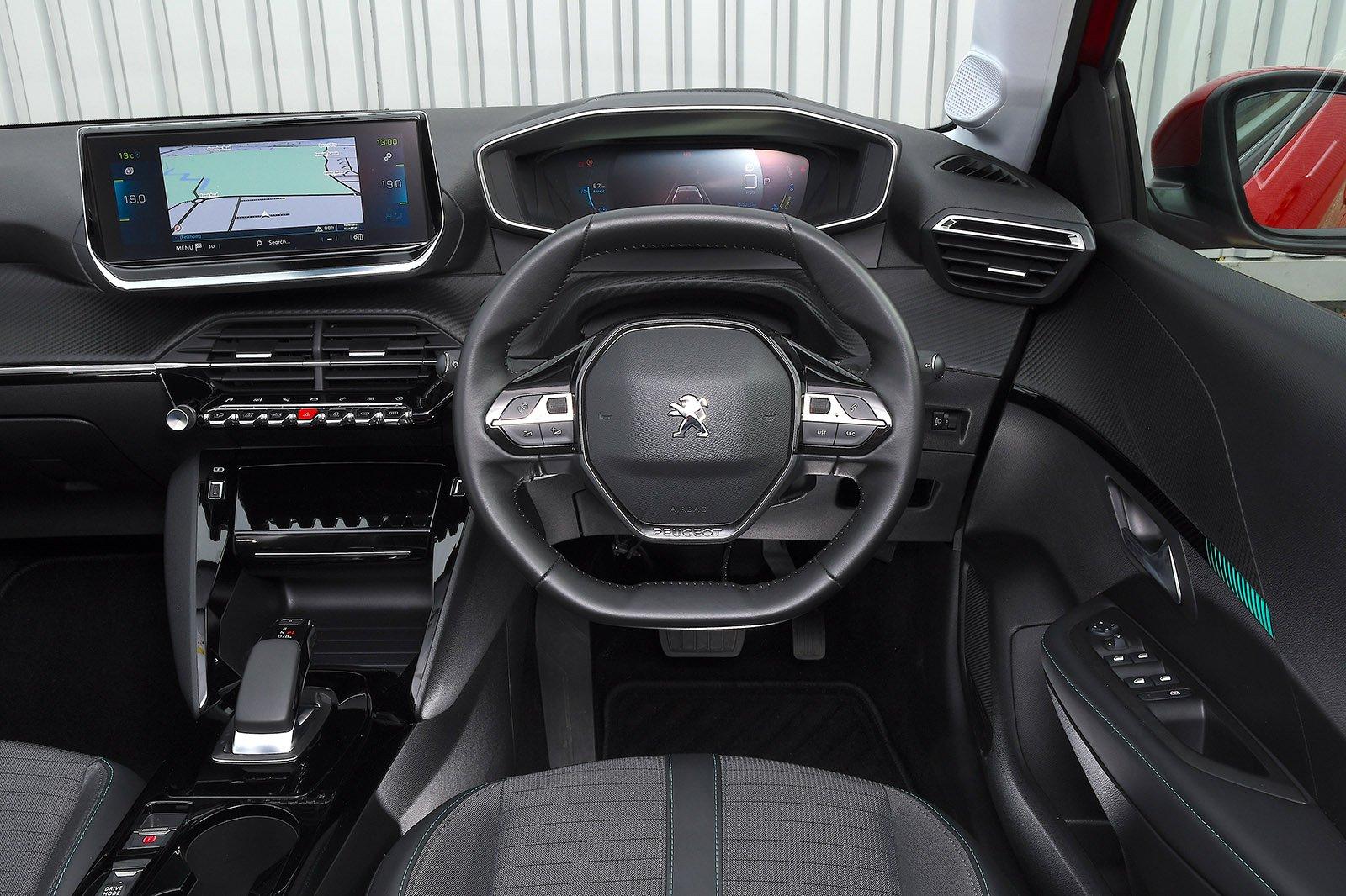 Peugeot e-208 2021 RHD dashboard