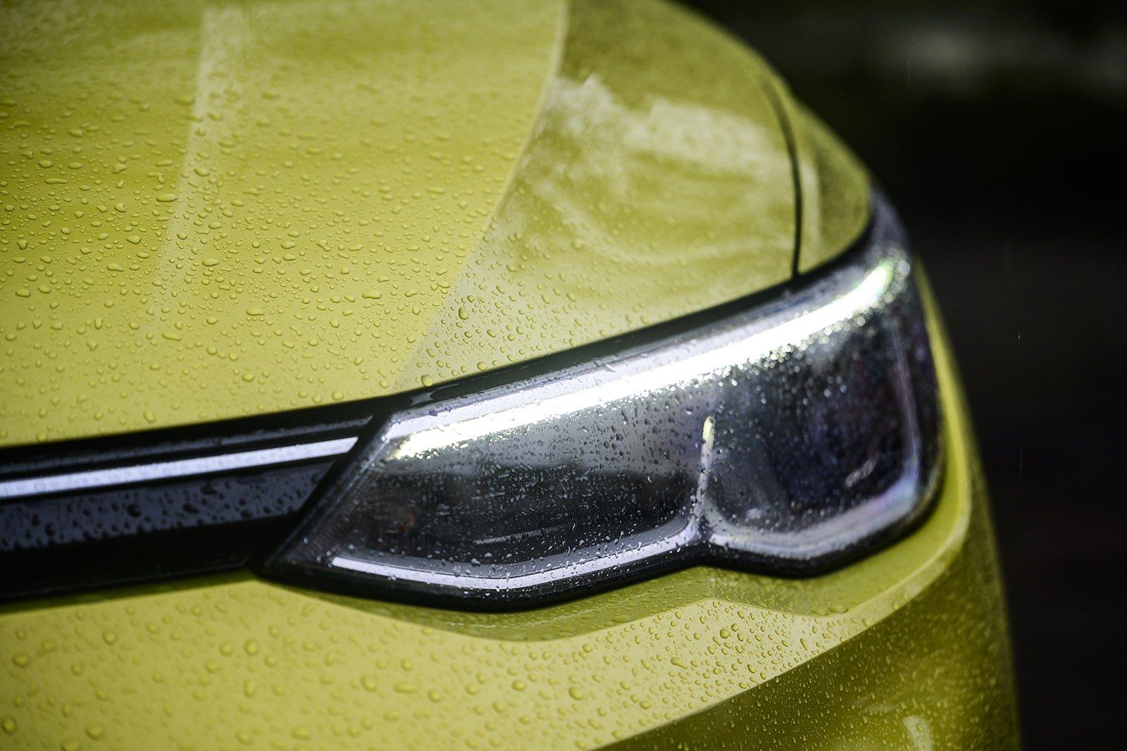 Volkswagen Golf long-term headlight detail