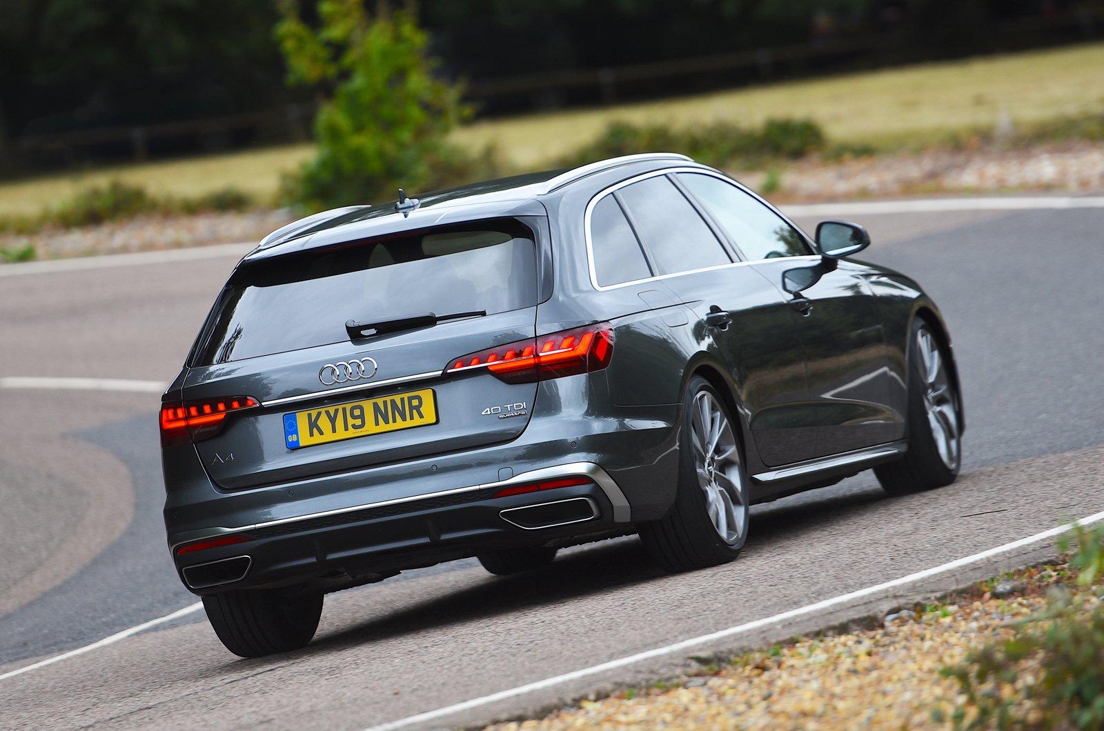 Audi A4 Avant rear cornering