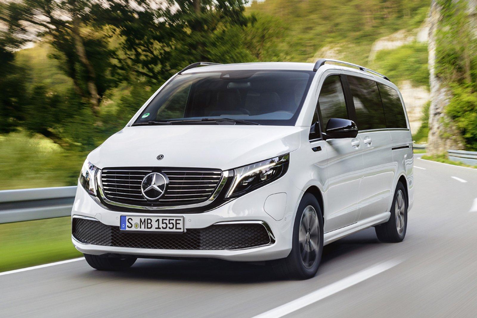 Mercedes EQV 2021 front tracking