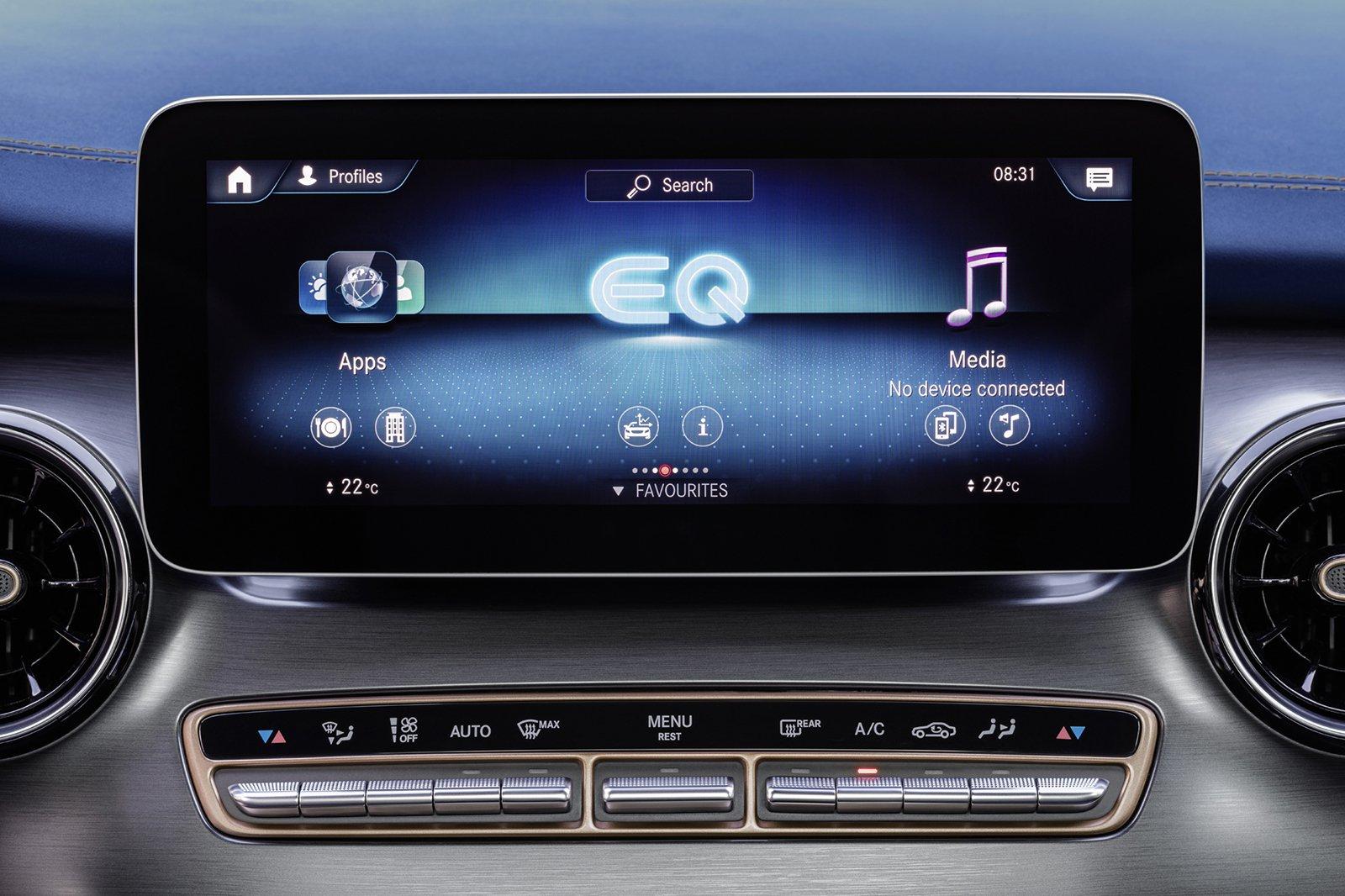 Mercedes EQV 2021 infotainment
