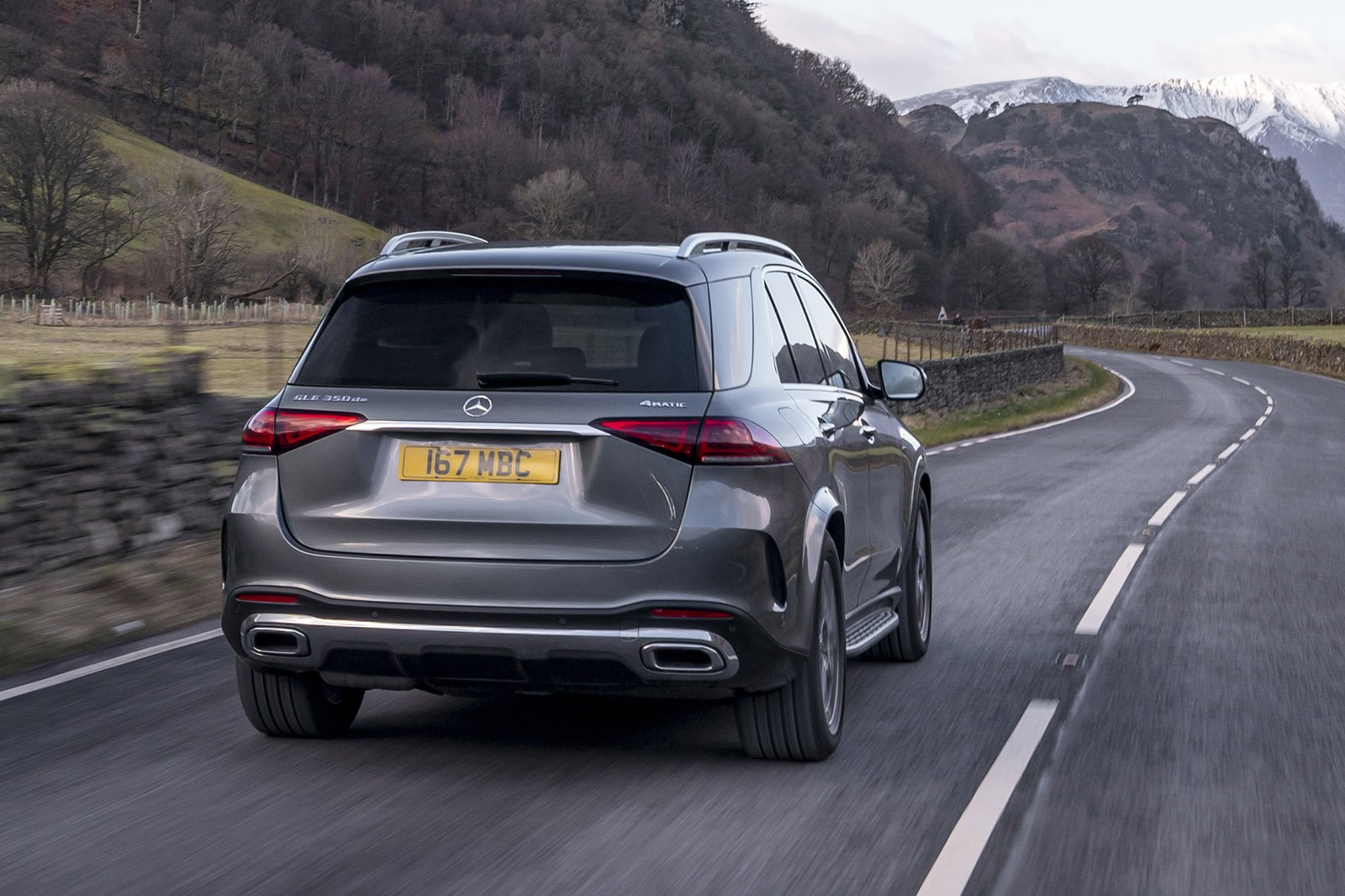 Mercedes GLE 2021 rear tracking
