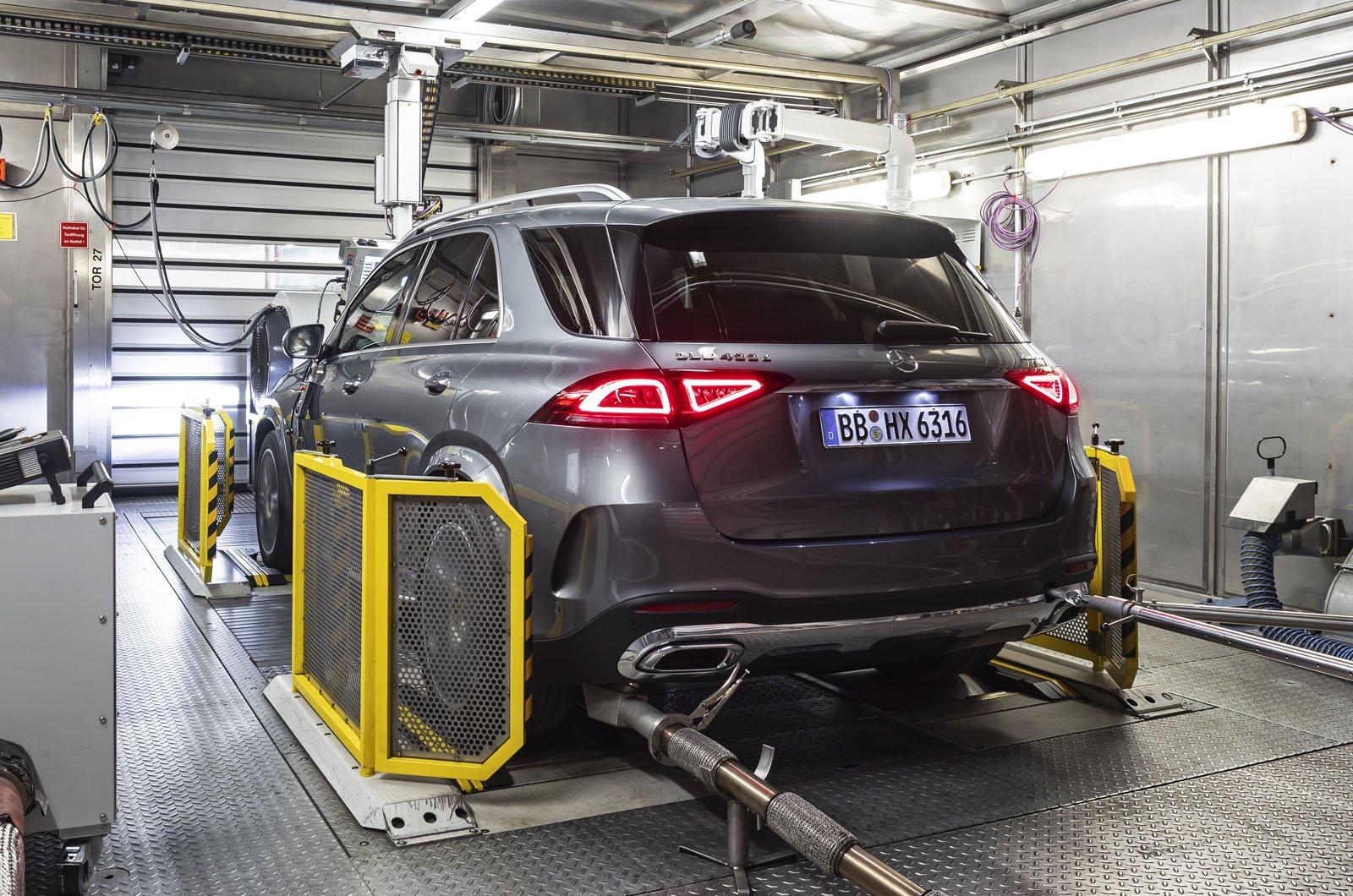 Mercedes GLE laboratory emissions testing