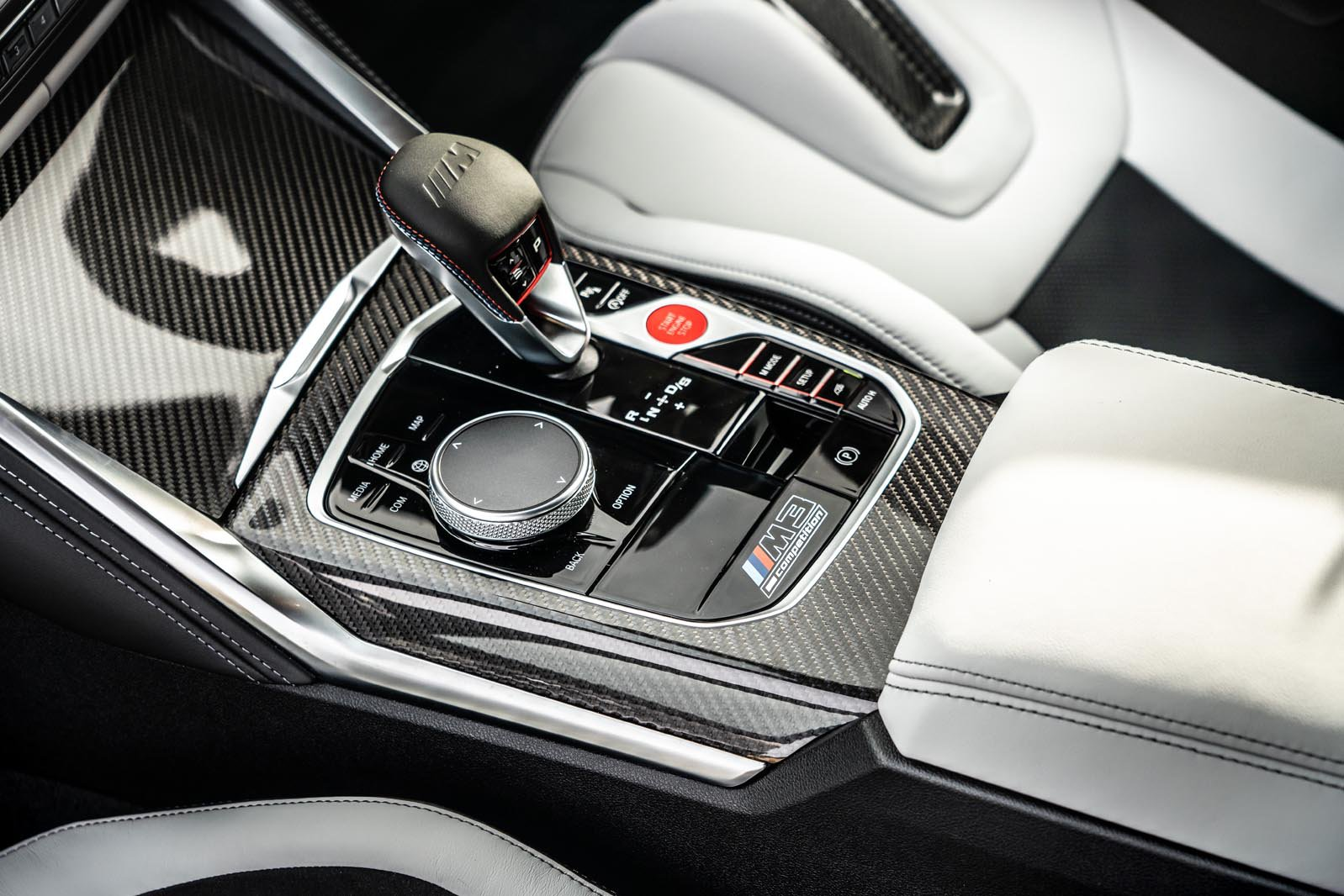 BMW M3 2021 infotainment controls