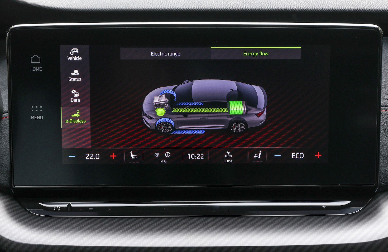 The Skoda Superb iV covers 37 miles in electric-only E-mode, while the Skoda Octavia iV does 43 miles