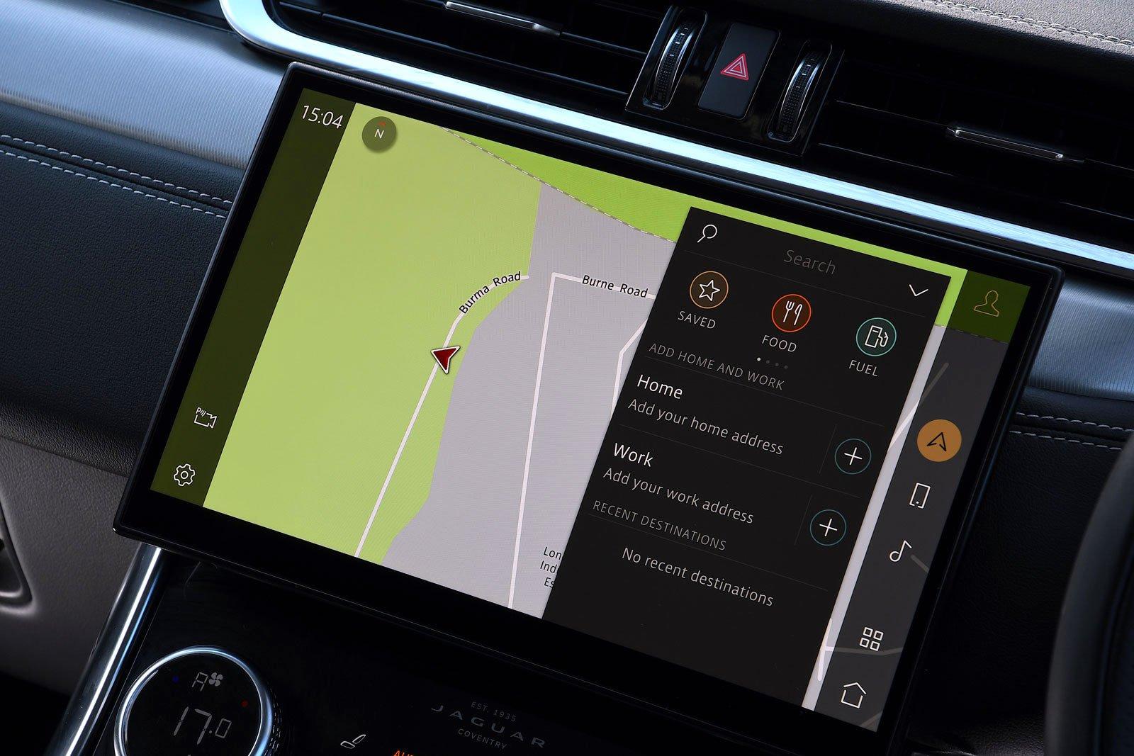 Jaguar XF Sportbrake 2021 infotainment