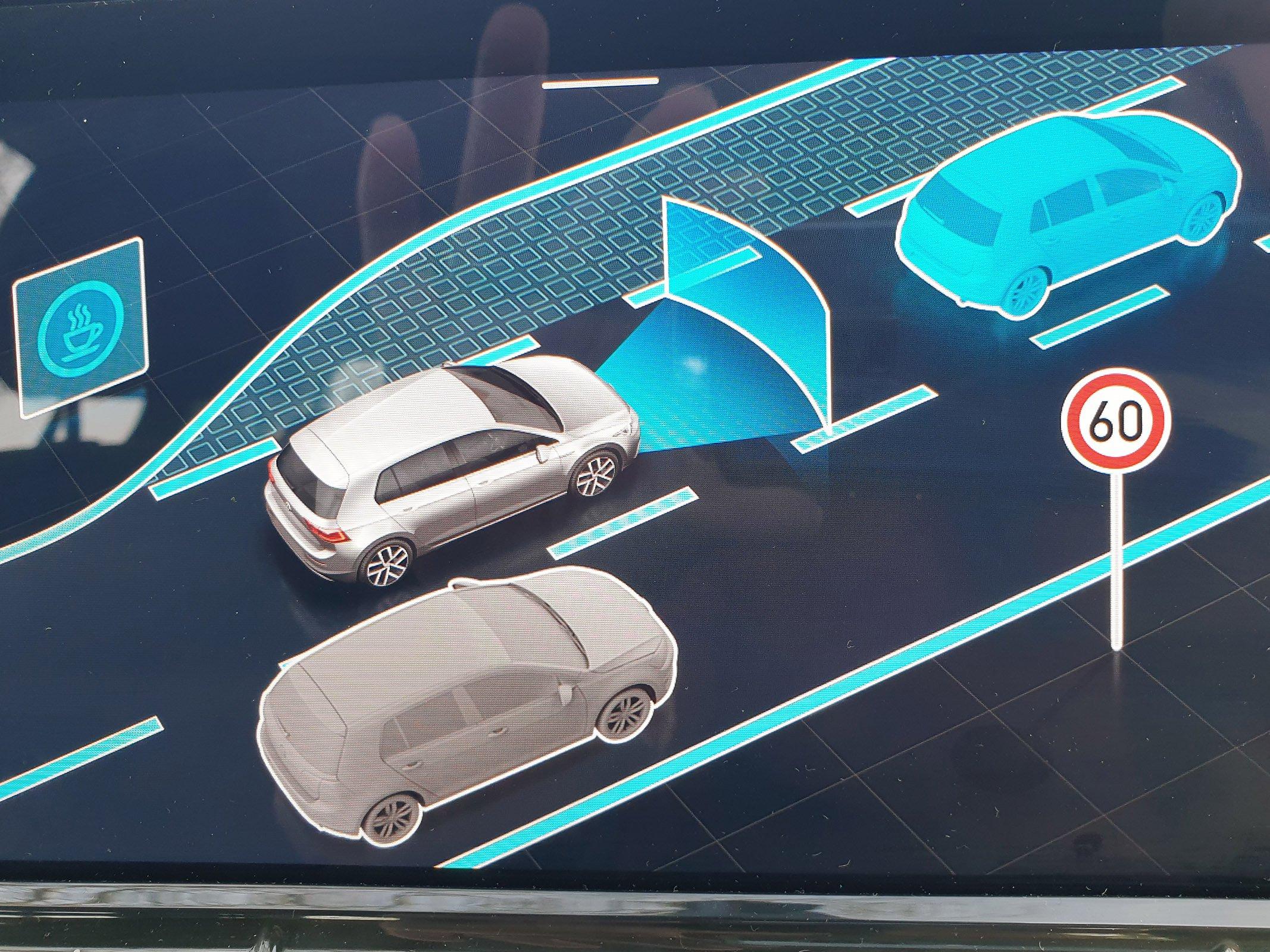 Volkswagen Golf 2021 safety systems menu