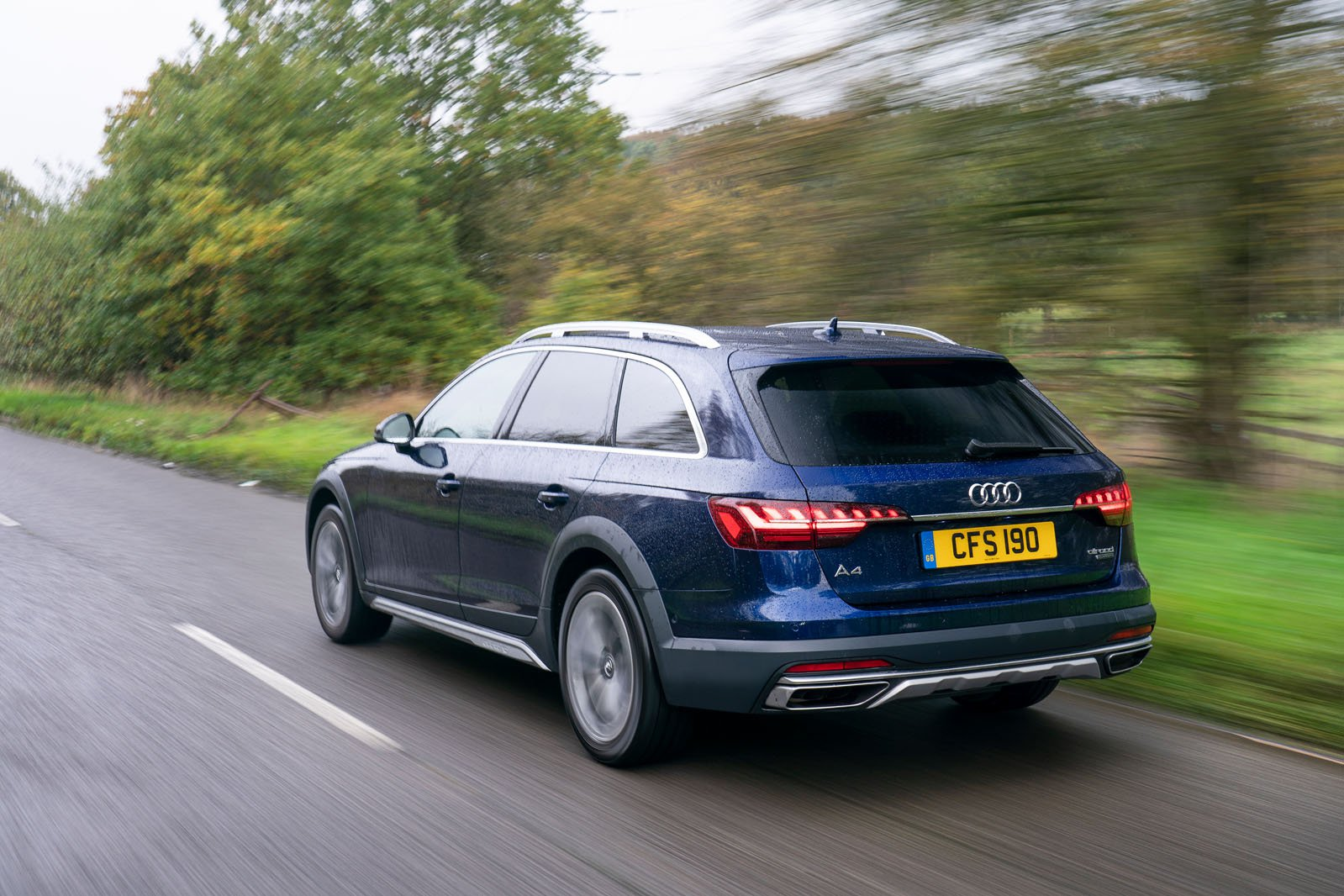 Audi A4 Allroad 2021 rear tracking