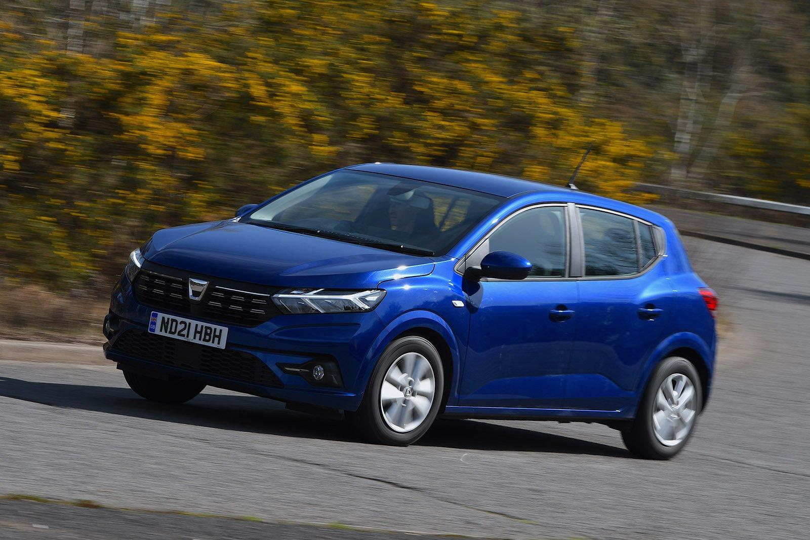 Dacia Sandero 2021 RHD wide front cornering