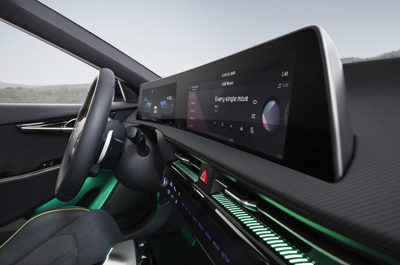 2021 Kia EV6 interior