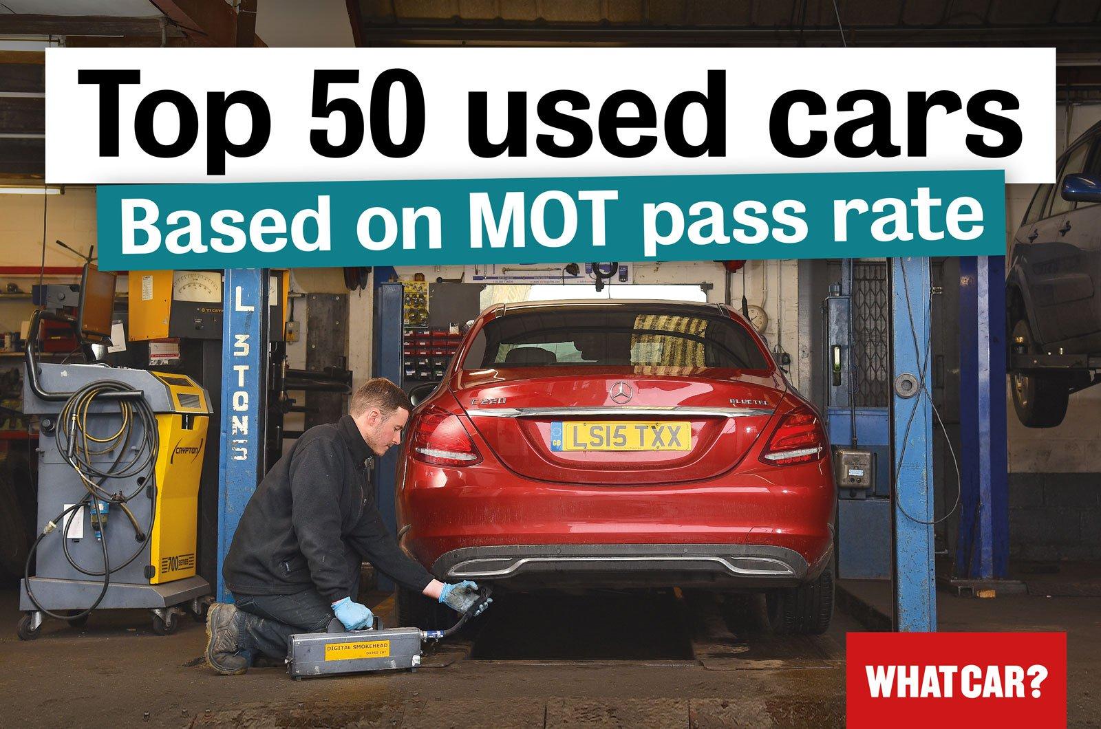 Top 50 cars for MOT pass
