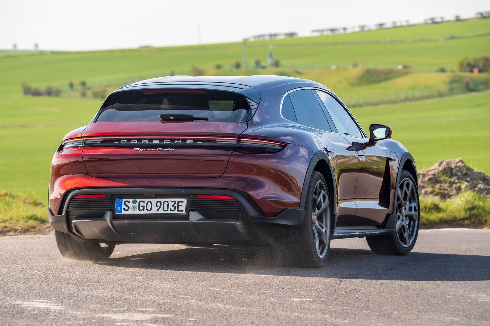 Porsche Taycan Cross Turismo 2021 rear cornering