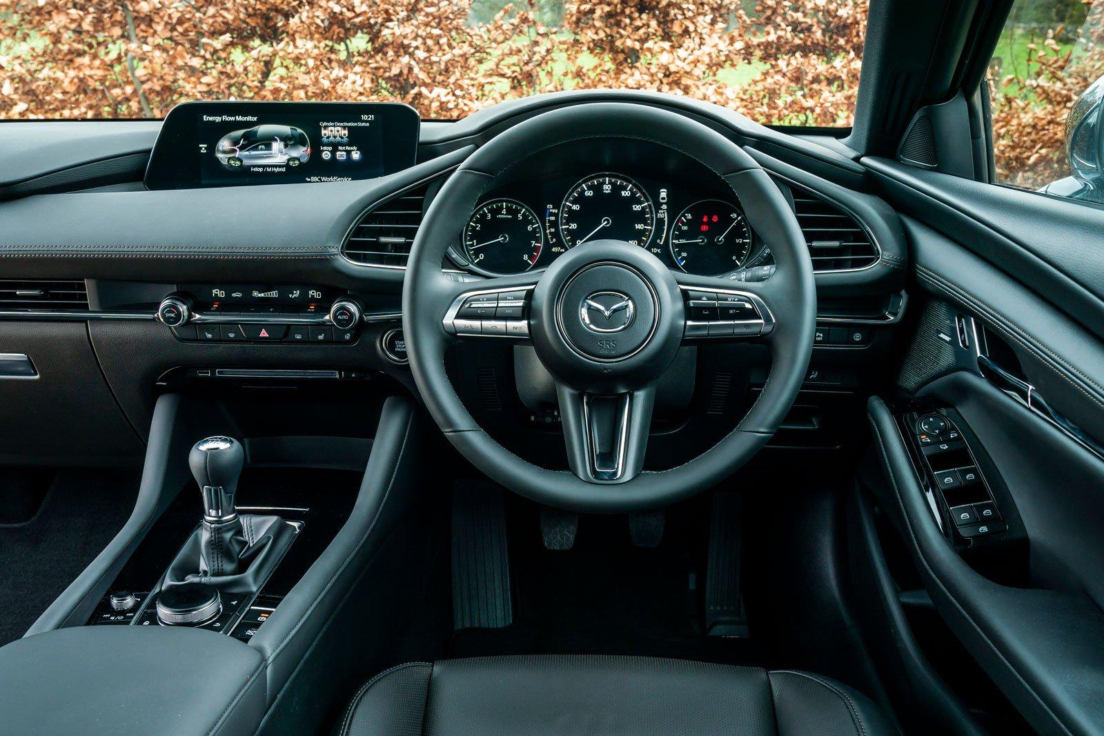 Mazda 3 2021 interior dashboard