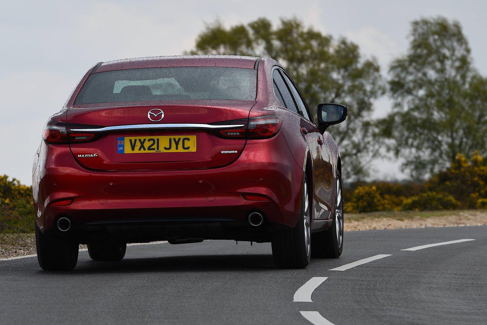 Mazda 6 saloon 2021 rear cornering