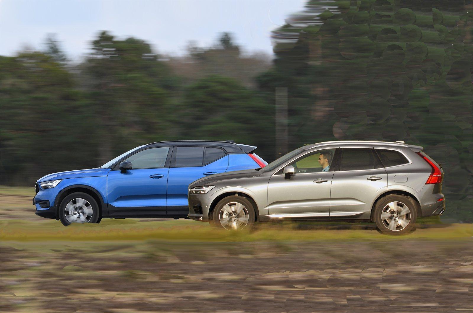 Volvo XC40 vs Volvo XC60 sides