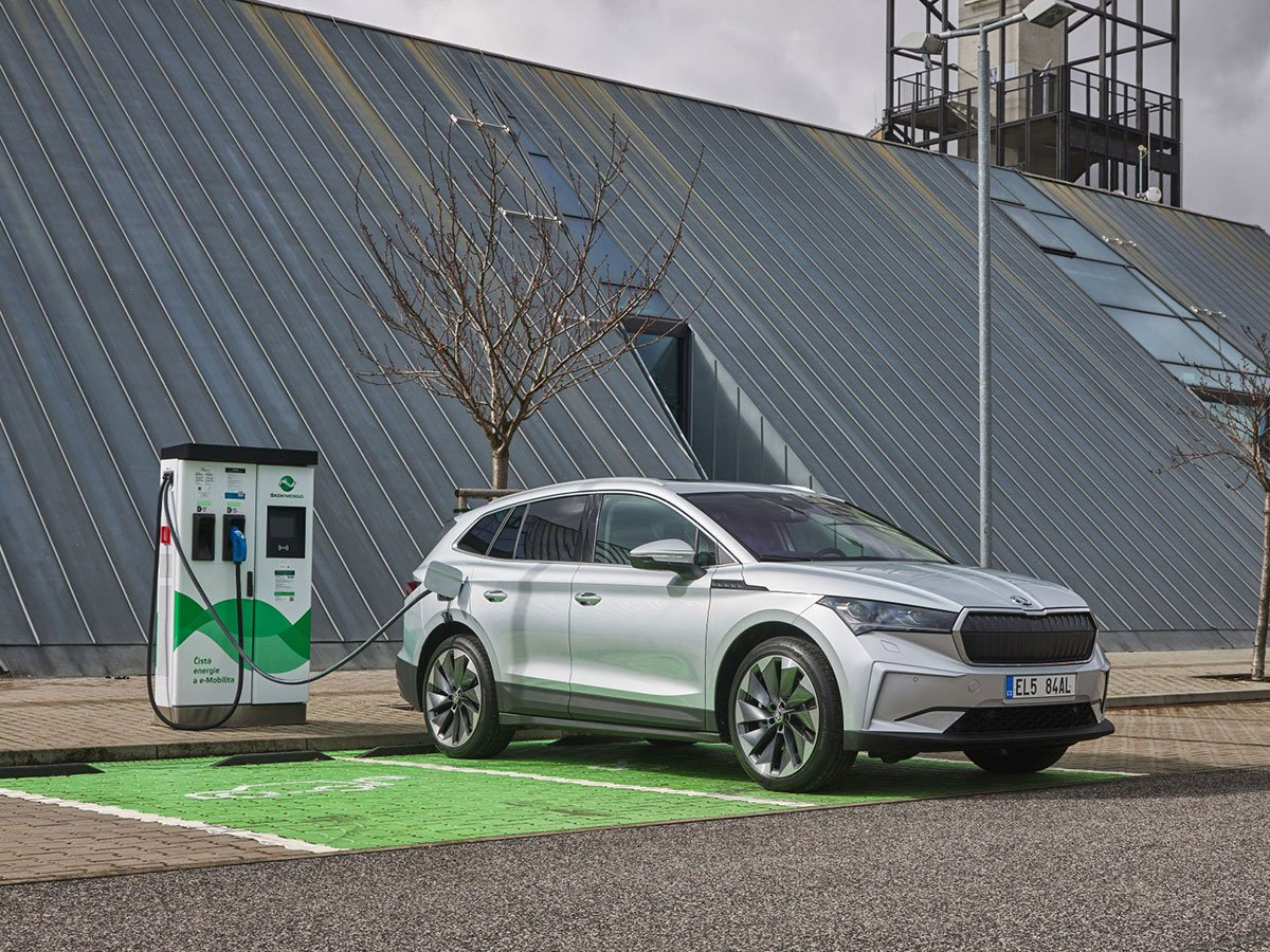 The Skoda Enyaq iV offers up to 327 miles of range, based on the combined WLTP test cycle.