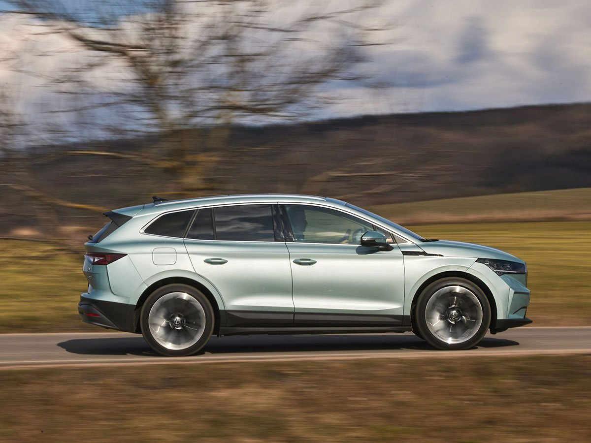 Skoda Enyaq iV 80 models upgrade the power to 204PS – in addition to delivering their extended 333-mile range.