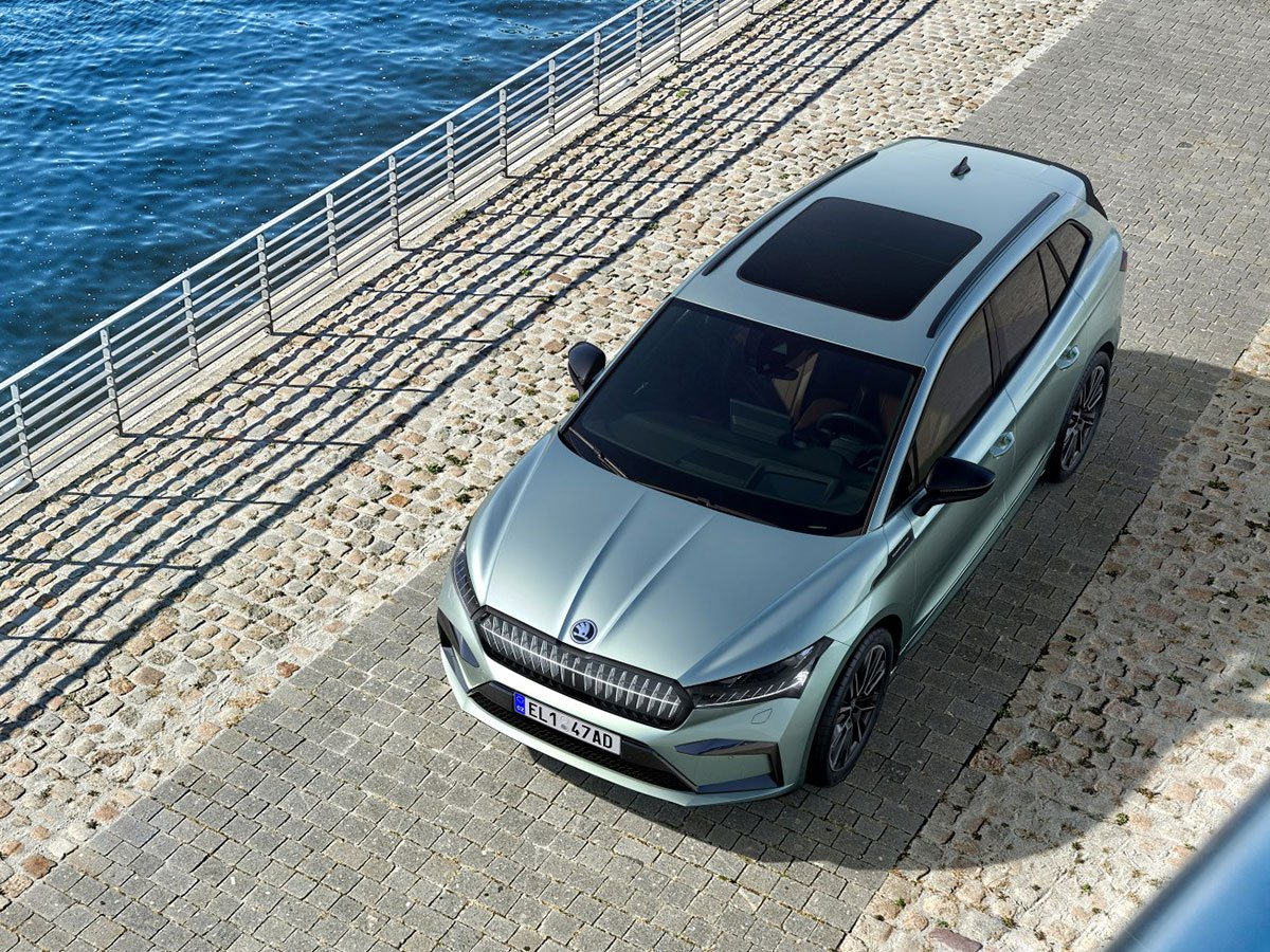 The Skoda Enyaq's 585-litre boot expands up to 1710 litres with the seats folded flat