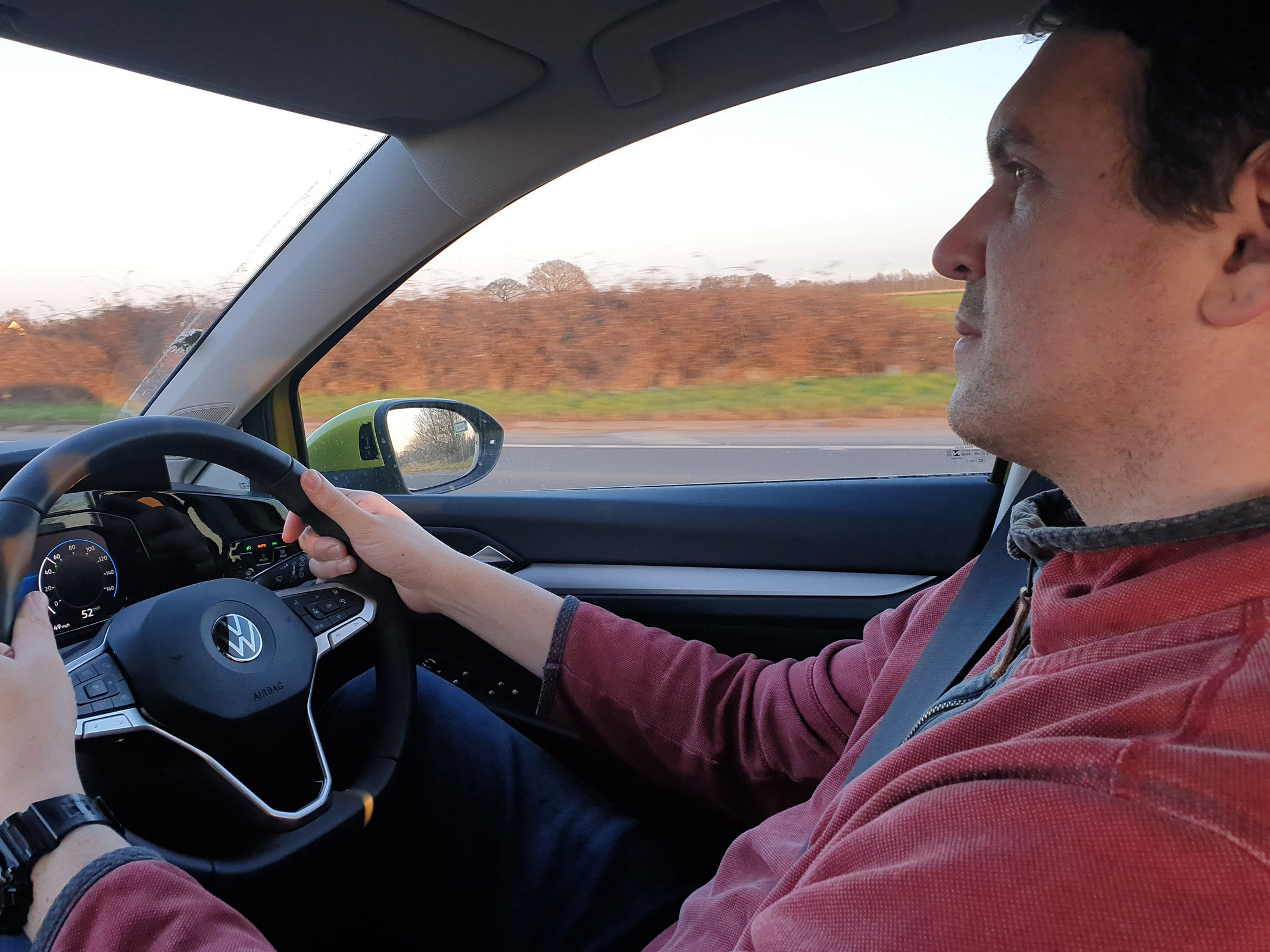 Volkswagen Golf 2021 long term Haining at wheel