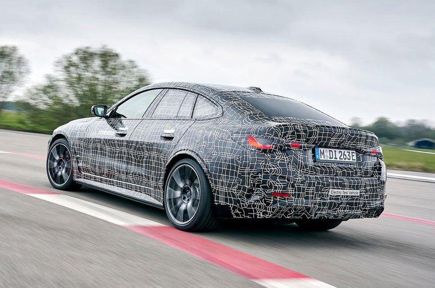 BMW i4 prototype rear
