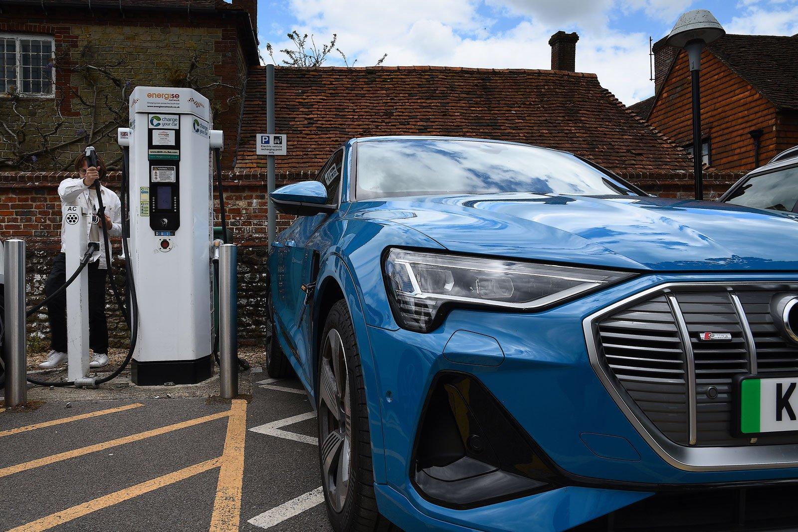 Public charging electric car