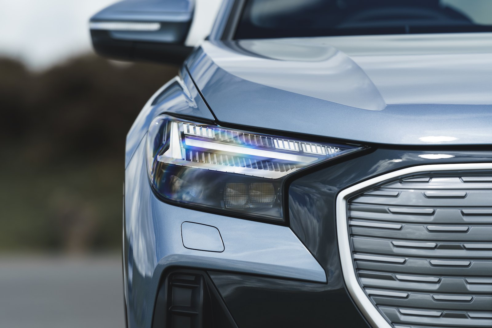 Audi Q4 e-tron 2021 headlight detail