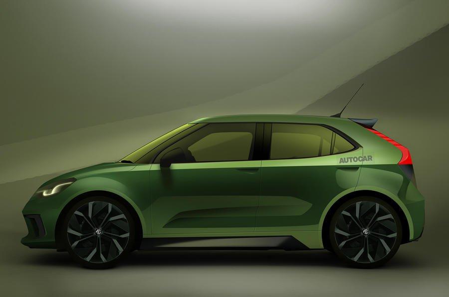 MG electric hatchback render