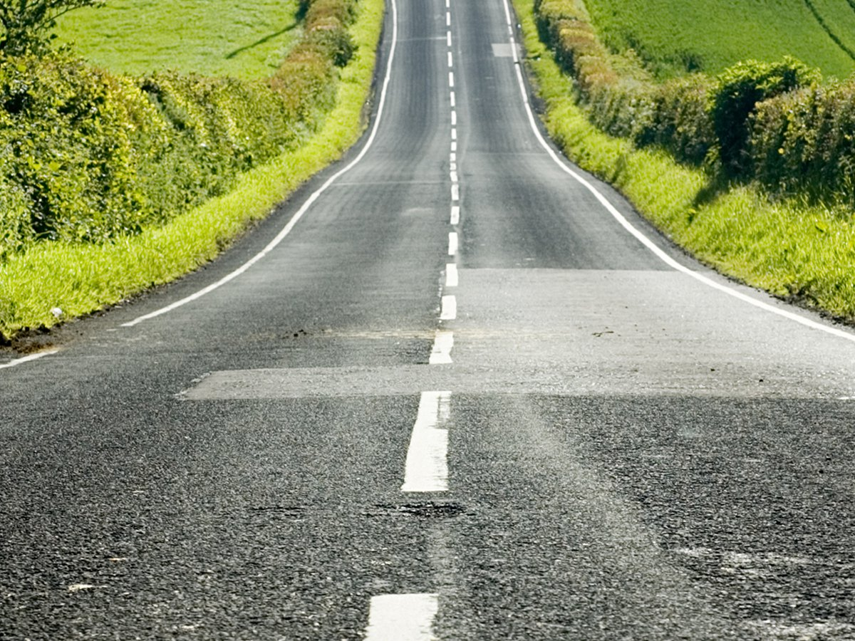 The longer the white lines, the more hazardous the road ahead.