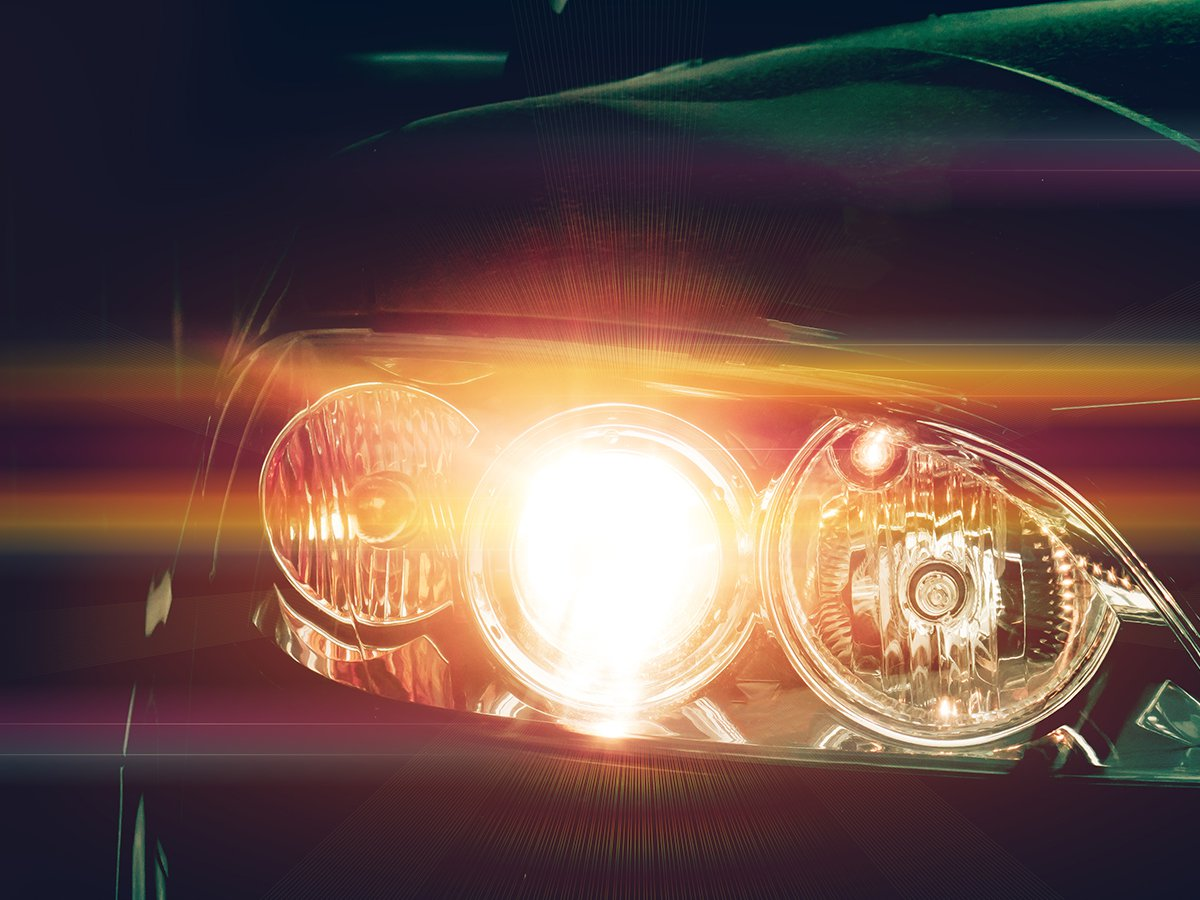 Be bright. Wait to switch on your headlights, so they're not a distraction