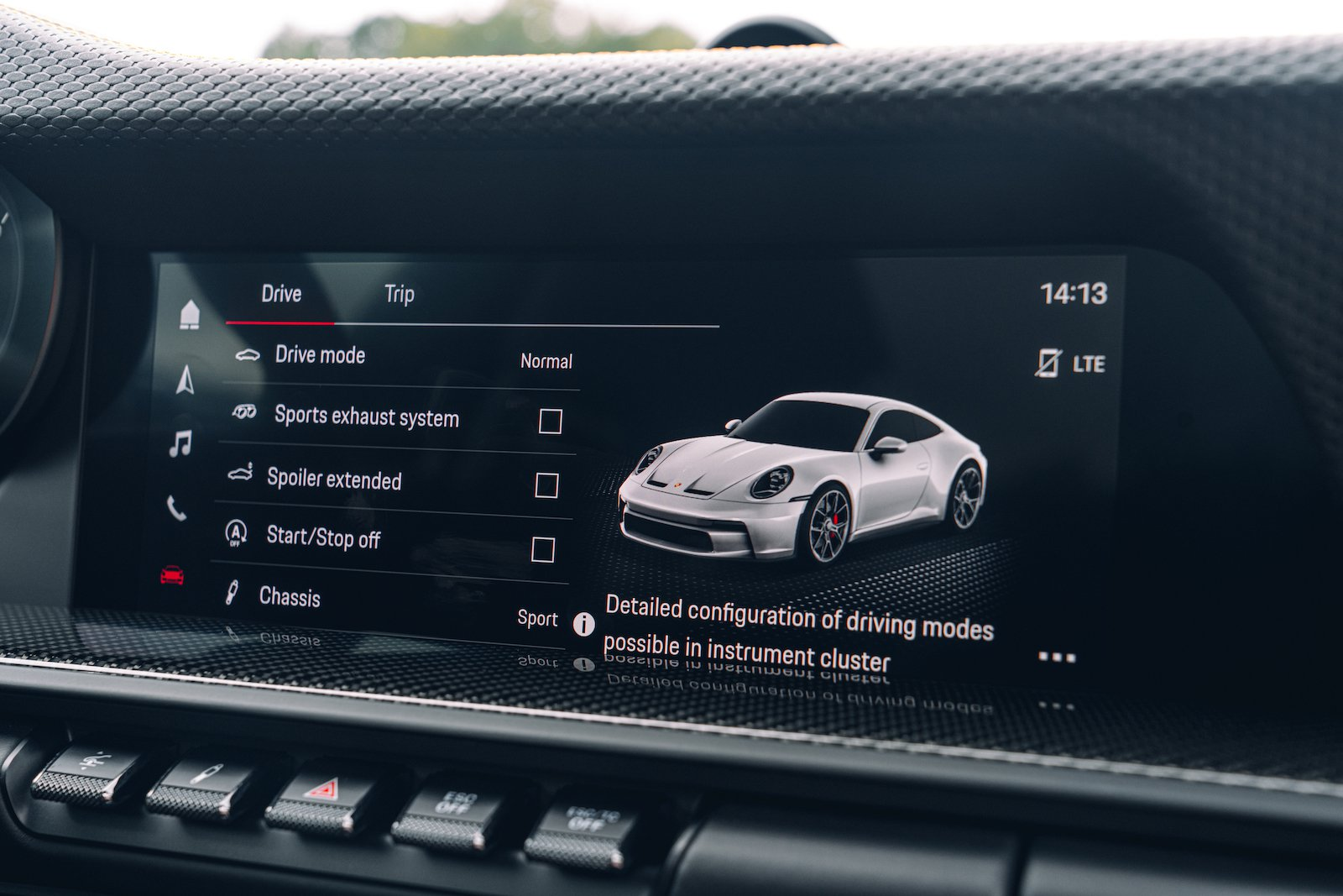 Porsche 911 GT3 Touring 2021 interior infotainment