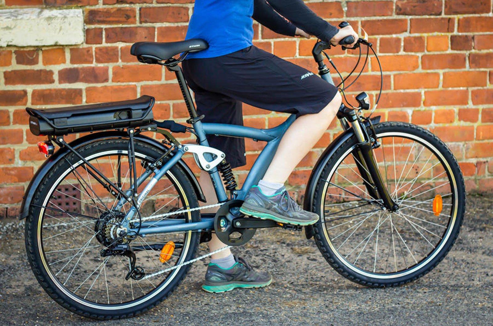 Riding e-bike 2021