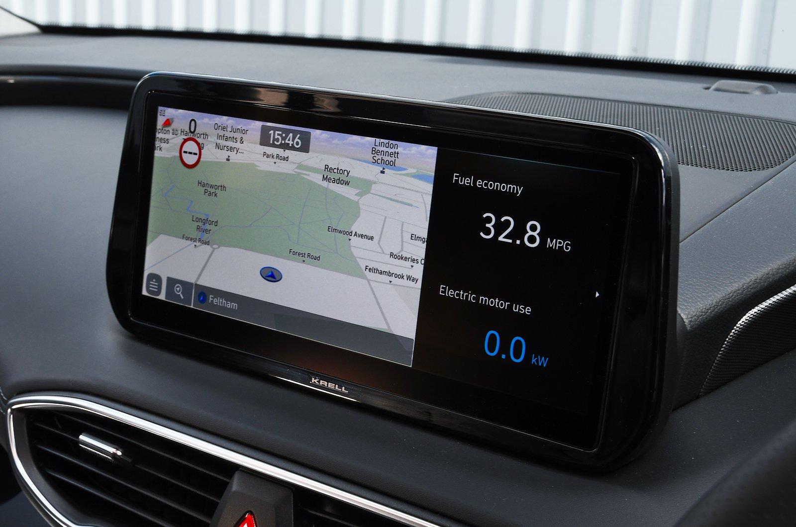 Hyundai Santa Fe 2021 touchscreen
