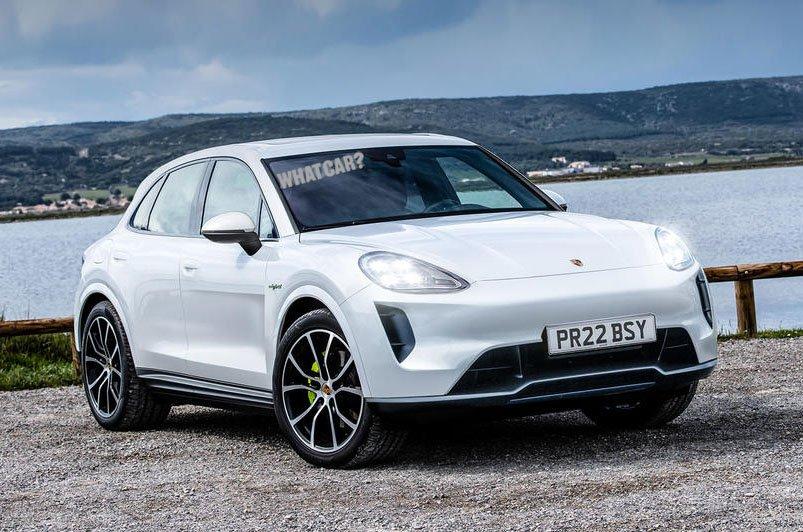 Porsche Macan EV rendering