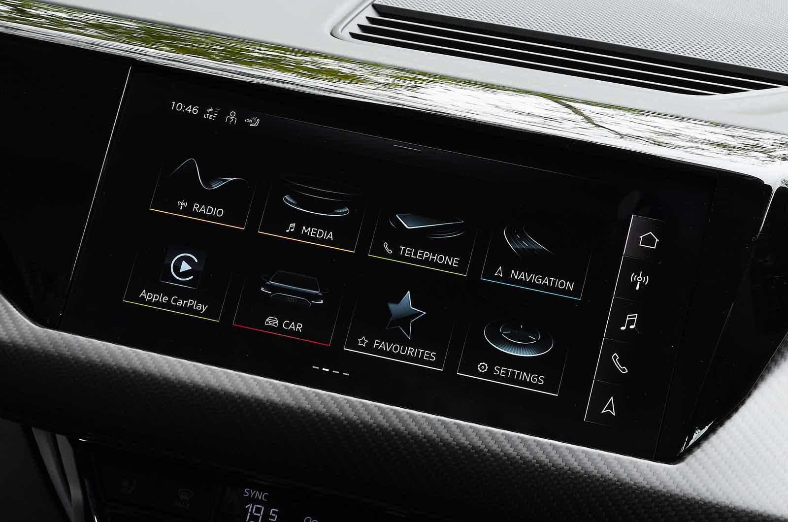 Audi E-tron GT 2021 touchscreen