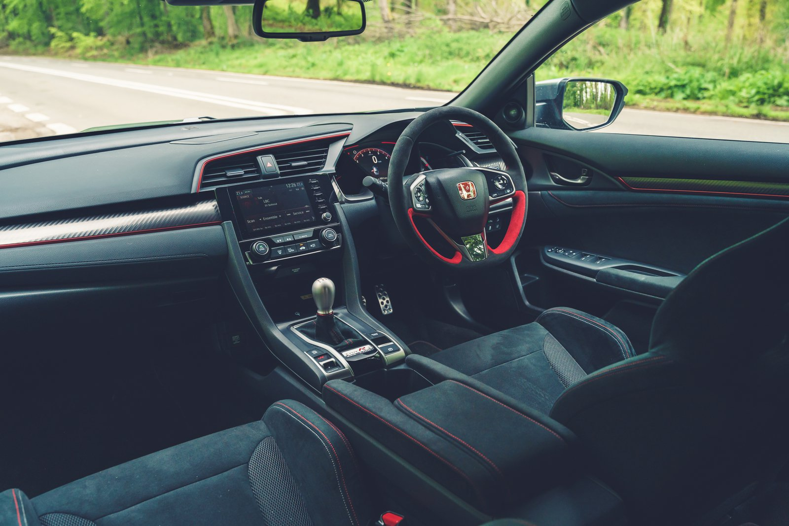 Painel interno do Honda Civic Type R Sport Line 2021