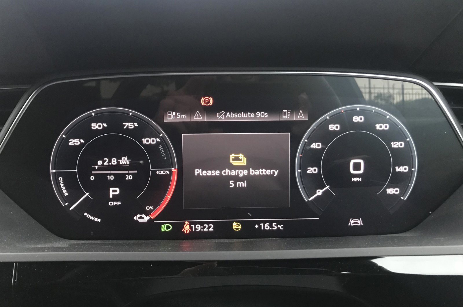LT Audi E-tron Sportback with five miles of charge left
