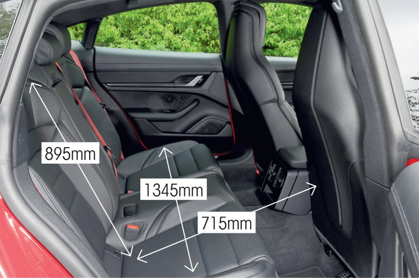 Porsche Taycan 2021 rear seats