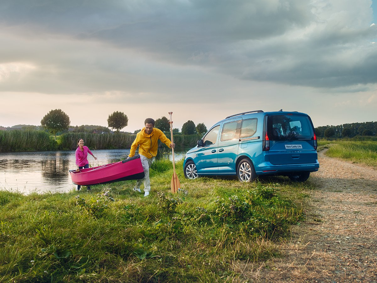 The all-new Volkswagen Caddy combines class-leading in-cab infotainment technology with an airy cabin and versatile space for passengers and cargo