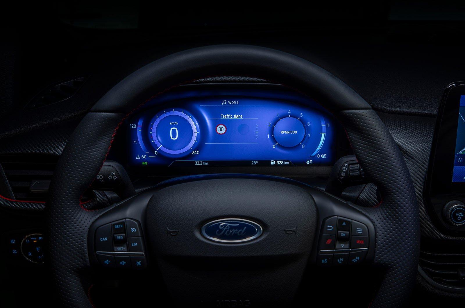 Ford Fiesta digital instruments